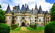 Impressive fairy tale castles of France,  il de france region