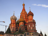 Saint Basil's Cathedral in Red Square in Moscow Russia