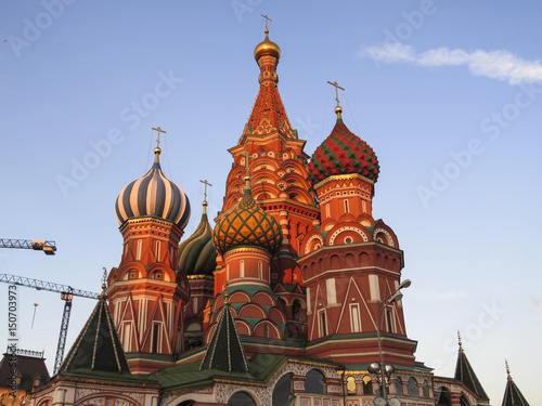 Poster Saint Basil's Cathedral in Red Square in Moscow Russia