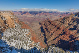 South Rim Grand Canyon Landscape in Winter
