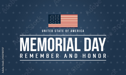 Aluminium Vintage Poster Happy memorial day theme background