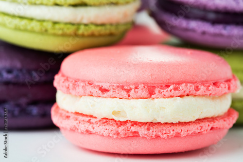 macaroons on white Poster