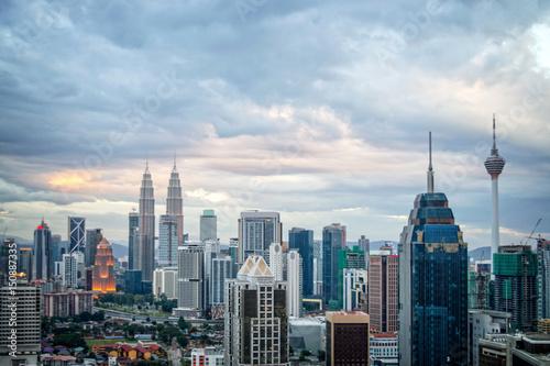Foto op Canvas Kuala Lumpur Aerial view of Kuala Lumpur skyline, Malaysia