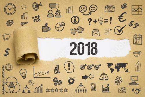 2018 / Papier mit Symbole Poster