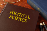 Book with title political science in an office. - 150919978