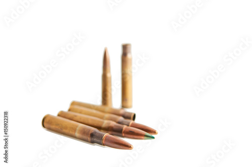 Poster Bullets isolated on white.