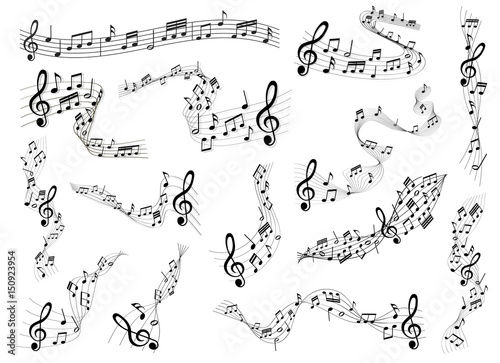 Plexiglas Muziek sheet music set