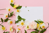 Postcard decorated flowers - 150962383