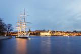 Stockholm, Schweden bei Nacht