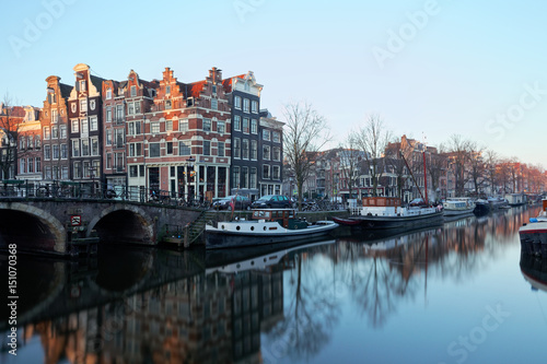Amsterdam on a winter morning