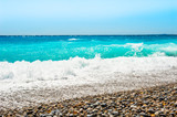 Beautiful beach with turquoise water. Travel and vacation