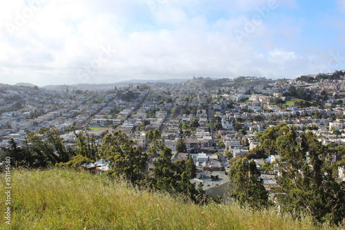 Rolling hills in San Francisco