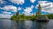 rocky shoreline, sawbill lake, bwcaw