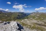 Crude mountain landscape - Alps