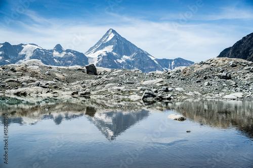 Fotobehang Bergen Gletschersee