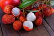Lychee on wood - 151235537