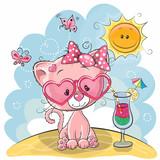 Kitten on the beach - 151238793