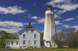 Sandy Hook Lighthouse with Visitor's Center