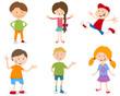 cartoon set of children - 151267372