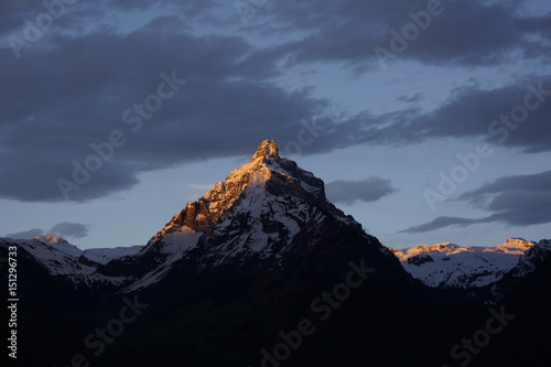 Alpenglühen, Morgenrot Poster