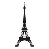 Eiffel tower, vector isolated silhouette