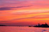 Zachód słońca nad Wenecją