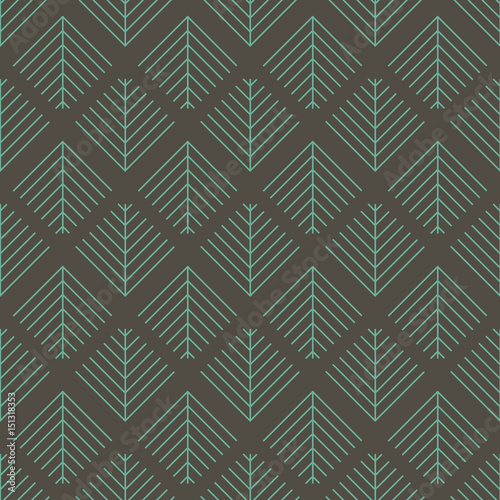 Vector seamless pattern. Abstract stripped geometric grey and green background.  - 151318353