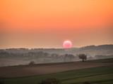 Sonnenuntergang im Frühjahr