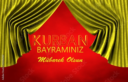 Papiers peints Rouge Kurban Bayramı Tebrik Sahnesi, Türk Bayrağı