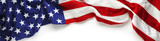 Red, white, and blue American flag for Memorial day or Veteran's day background - 151344196