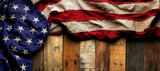 Vintage red, white, and blue American flag for Memorial day or Veteran's day background - 151344754