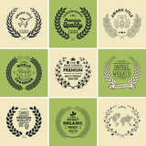 Laurel Wreath Badges Vector. Template for Awards, Quality Mark, Diplomas and Certificates. - 151375102