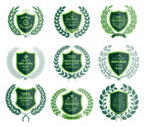 Luxury Green Badges Laurel Wreath Collection - 151375335
