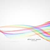 colorful abstract smooth wave background - 151384174