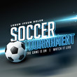 stylish sports flyer poster design for soccer tournament game