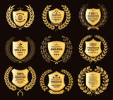 Luxury Golden Badges Laurel Wreath Collection - 151400377