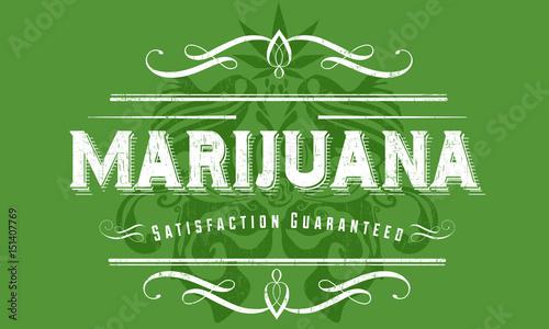 Canvas Vintage Poster Marijuana Vintage Poster Design