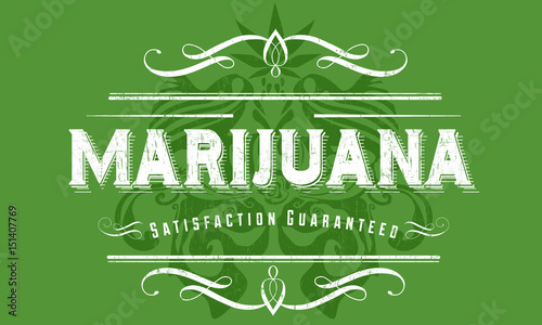 Aluminium Vintage Poster Marijuana Vintage Poster Design
