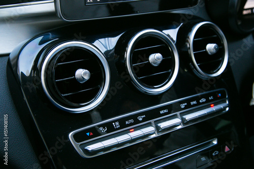 Interior of a modern car, Car Air Conditioner - 151408105