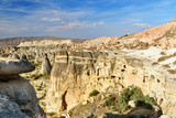 View of cave houses in Cavusin. Cappadocia. Turkey