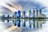 Bangkok City at night with daylight
