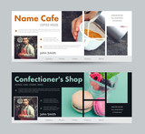 Fototapety template banner for advertising a coffee house, a pastry shop, a bakery