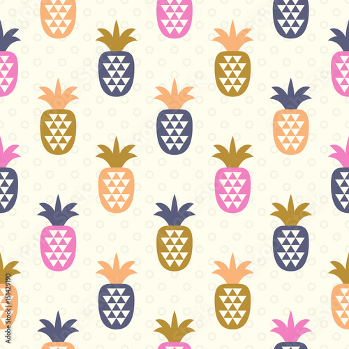 seamless pattern with pineapples - 151429190