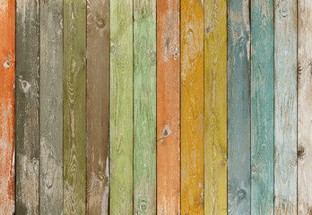 Vintage color wood planks background