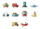 Fototapety Vector set for transportation icons