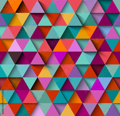 Tapeta Seamless background pattern with triangles and shadows, eps10 vector