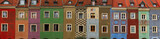 facades of crooked medieval houses on the central market square in Poznan, PolandPoznan, Poland