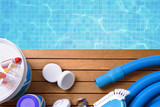 Chemical products and tools for pool maintenance - 151521584