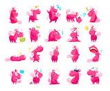 Fototapety Vector flat unicorn illustration.