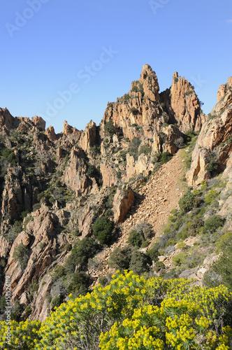 rocks, calanques de piana in Corsica